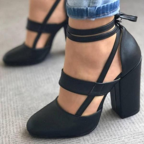 black block heels - Types of Shoes for Women