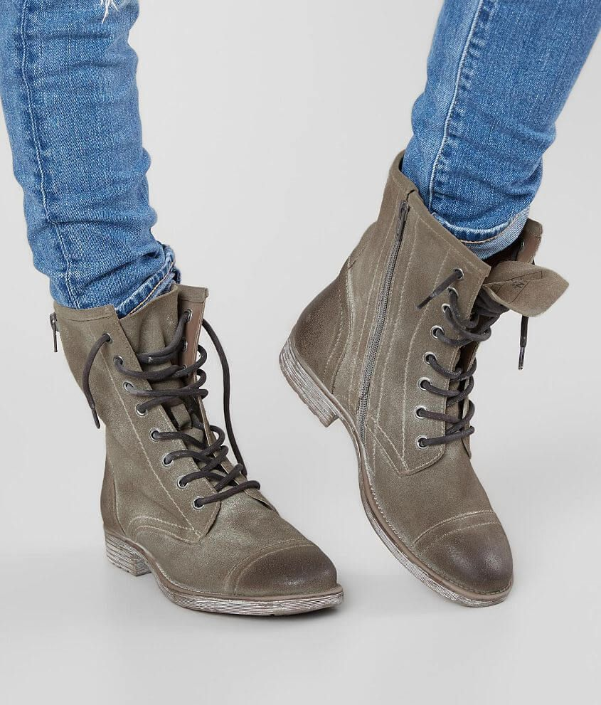 dark military boots - women's footwear