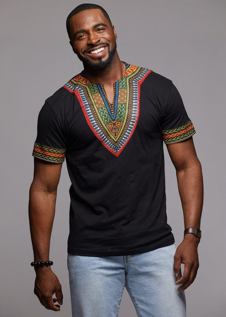 happy man rocking dashiki - Native Wears for Nigerian Men